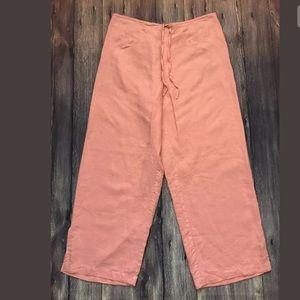 Eileen Fisher   Linen Capris Crop Drawstring Pants